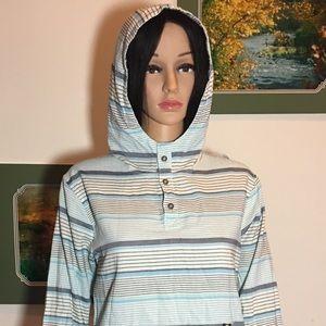 Lucky brand hoodie strip long sleeve shirt